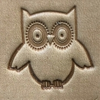 Leather stamp Owl