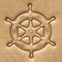 Leather stamp Rudder