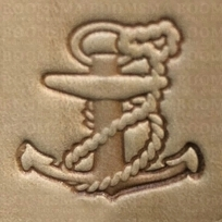 Leather stamp Anchor