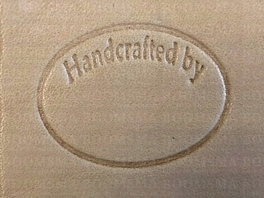Leather stamp Handcrafted by