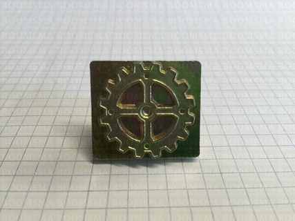 2D & 3D stamps Steam Punk gear with 4 spokes - pict. 2