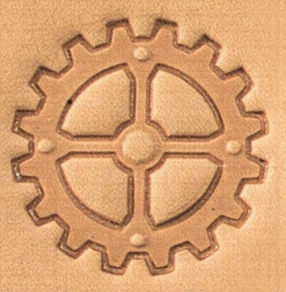 2D & 3D stamps Steam Punk gear with 4 spokes - pict. 1