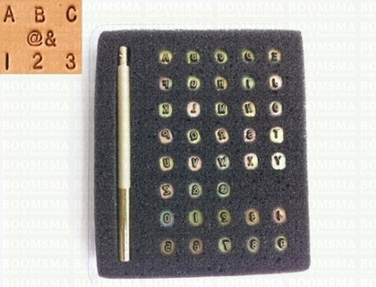 Alphabet/numberset 3 mm (with @ and & signs) 3 mm - pict. 1