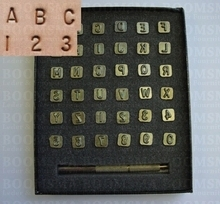 Alphabet- and number set 6 a 7 mm, slim letter (ea)