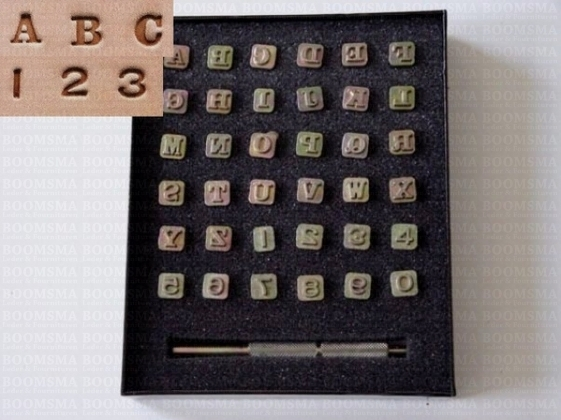 Alphabet- and number set 6 a 7 mm, thick (per set) - pict. 1