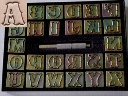 Alphabet set normal large 24 mm (per set)