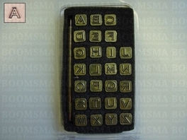 Alphabet set open face small 6 mm (1/4 inch) (per set)