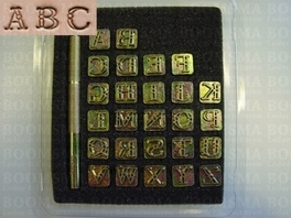 Alphabet or number set open fancy small 9 mm, alphabet (per set)