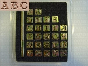 Alphabet or number set open fancy small 9 mm, alphabet (per set) - pict. 1