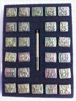 Alphabetset Leather Art 18 mm 18 mm (per set)