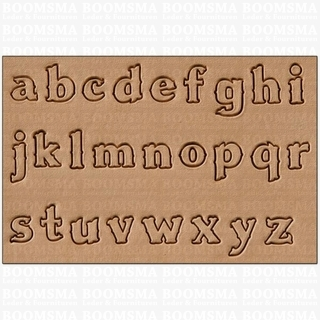 Alphabetset script lower case (no capital letters) max. size 10 × 13 mm small (per set) - pict. 2