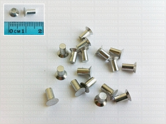 Aluminum rivets for inlay 100 pieces - pict. 1