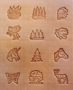 Animals and trees set 3D mini 12 × 12 mm, 12 stamps + stamp handle (per set) - pict. 2