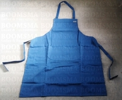 Apron cotton blue