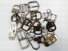 Assortment Buckles  25 pieces (small buckles max. 20 mm)