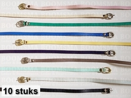 Assortment Belts 9 a 10 mm variation of colours approx. 96 cm (10 belts)