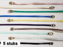 Assortment Belts 9 a 10 mm variation of colours approx. 96 cm (5 belts)