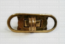 Bagclasps OP=OP turnclasp 4,8 cm  x 1,8 cm per piece colour: old gold