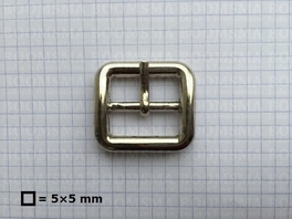 Belt buckle 25 mm silver 25 mm double