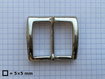 Belt buckle 35 mm silver 35 mm (ea) - pict. 1