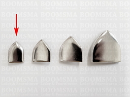Beltend point with rivets for 20 mm belt colour: nickel