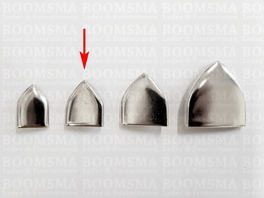 Belt end point with rivets for 25 mm belt colour: nickel