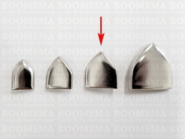 Belt end point with rivets for 30 mm belt colour: nickel