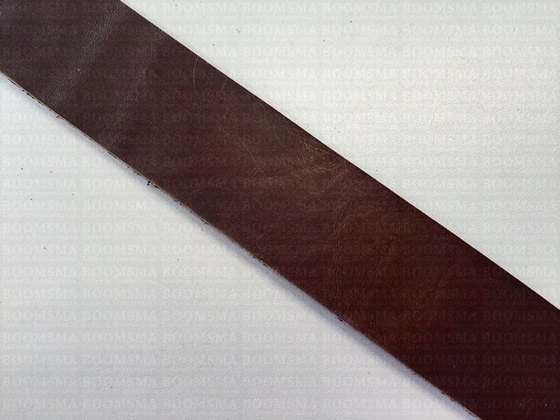 Belts/strips of veg-tanned leather sides Dark Brown dark brown - pict. 1