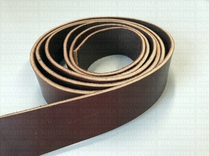 Belts/strips of veg-tanned leather sides Dark Brown - pict. 2