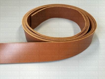Belts/strips of veg-tanned leather sides Light Brown / Cognac - pict. 2