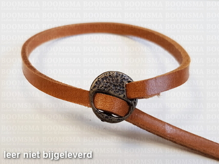 Bracelet closure round Colour: L.Bronze for 5 mm width material (leather strap or leather lace) - pict. 1