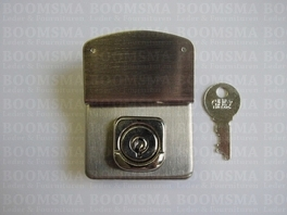 Briefcase lock silver 4,2 × 4,2 cm (5,5 cm incl. upper part), excl. rivet/nail for small holes in upper part (ea)
