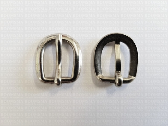 Buckle 10 mm colour: silver (per 10) - pict. 2