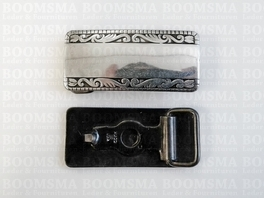 Buckle 56 x 26mm per 5 pieces colour: silver