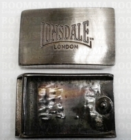 Buckle Lonsdale (London) 6,4 cm x 3,8 cm (35 mm belt)  per piece colour: silver
