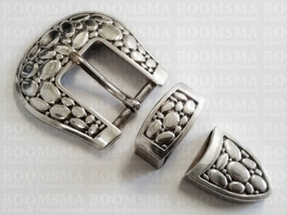 Buckle set: 'stone' 1 inch (= 25 mm) (ea)