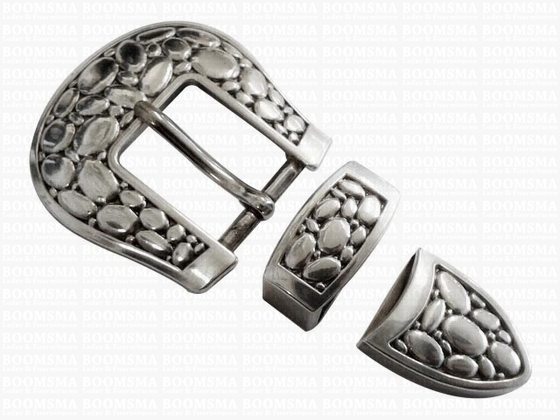 Buckle set: 'stone' 1 inch (= 25 mm) (ea) - pict. 1