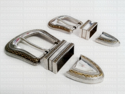 Buckle set: Western silver and gold - pict. 3