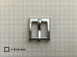 Buckle square chrome plated 16 mm