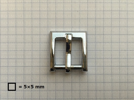 Buckle square chrome plated 16 mm - pict. 1