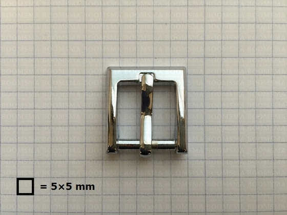 Buckle square chrome plated 16 mm - pict. 2