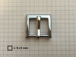 Buckle square chrome plated 20 mm