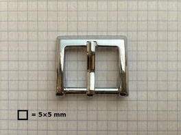 Buckle square chrome plated 25 mm