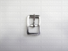 Center bar roller buckles silver 13 mm (ea)