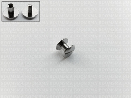 Chicago screws zilverkleurig nr. 5   female screw 5 mm (per 10) - pict. 1