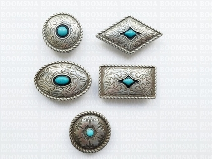Concho: Conchos with turguoise 'stone'  - pict. 3