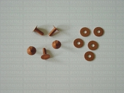 Copper rivets and burrs brass (red) - pict. 3