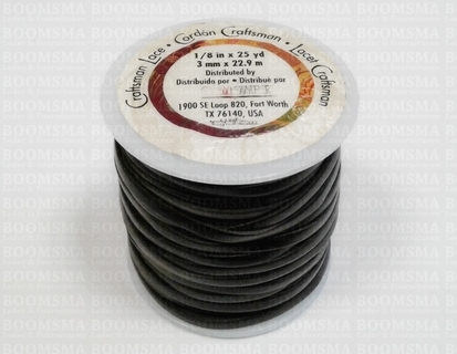 Craftsman Lace black 3 mm width 22,9 meter on the spool - pict. 1
