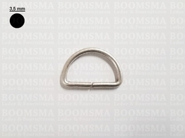 D-ring ongelast antique/mat silver  30 mm