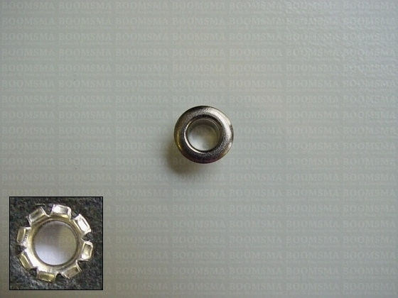 Eyelets: Eyelet 1252S (Split) silver 9 × 4,2 × 5 mm (width × hole × height) , 1252S (per 1000 (M/pk)) - pict. 1